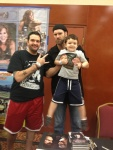 Tyler at Horrorhound with my son and I